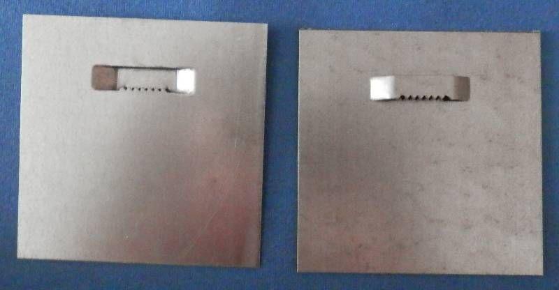 Plech 10 x 10 cm se zoubky na průlisu Pikolo PKP s.r.o.