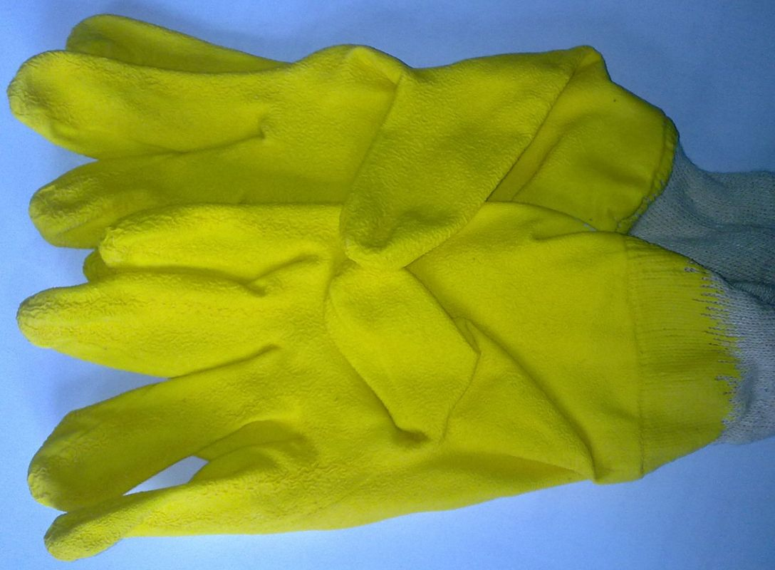 Sklenářské rukavice latex žluté